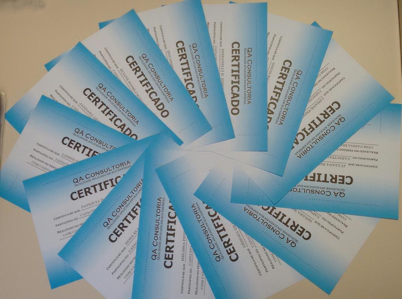 Equipe Certificada na Metodologia 5S (D-OLHO) pela QA Consult