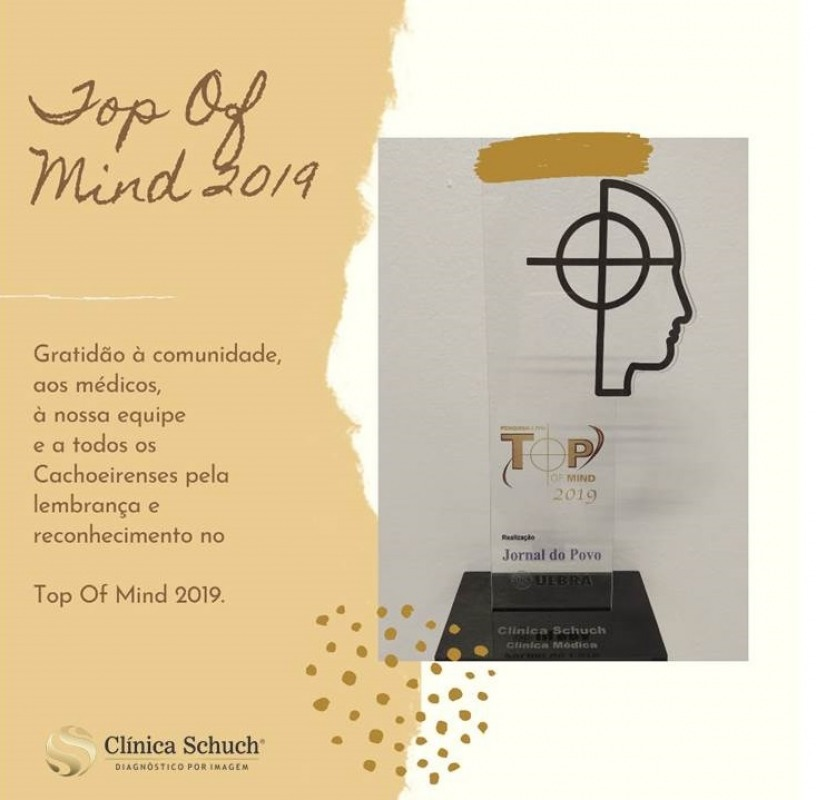 Vencedor do Prêmio Top Of Mind 2019