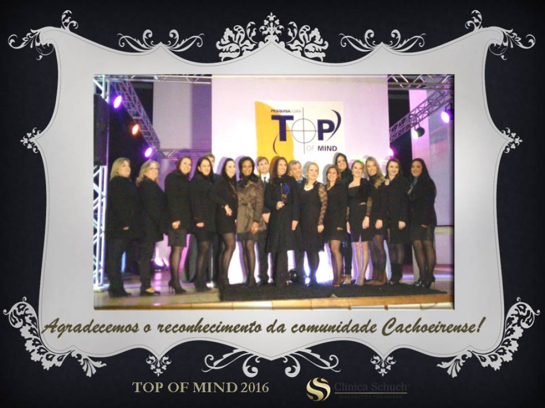 Vencedor do Prêmio Top Of Mind 2016