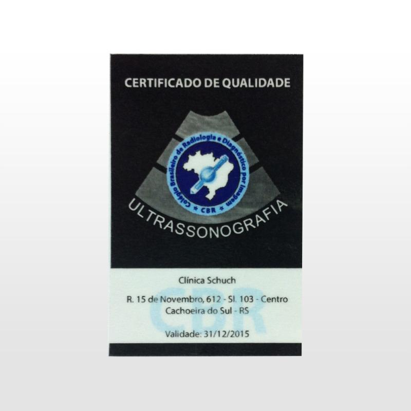 Conquista do Selo de Qualidade do Colégio Brasileiro de Radiologia – CBR desde 2010.