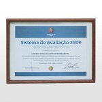 Ampliar a imagem - Reconhecimento pela participação nas etapas do Sistema de Avaliação do PGQP ( Programa Gaúcho de Qualidade e Produtividade) - 2009.