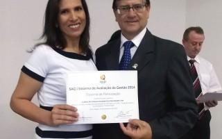 Reconhecimento das empresas e voluntários do Ciclo de Avaliação PGQP RS 2014.