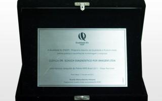 Reconhecimento e homenagem recebidos durante o 17º Prêmio Qualidade RS - PGQP em 2012