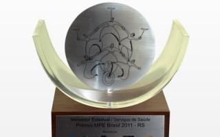 Vencedor Estadual na categoria Serviços de Saúde do Prêmio MPE Brasil 2011- RS